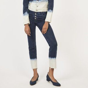Miaou High Rise Straight Leg Cropped Jeans Size 26